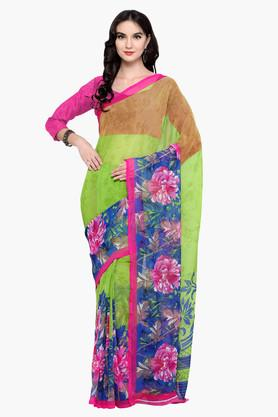 DEMARCA Womens Faux Georgette Printed Saree - 203229614