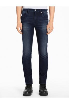 CALVIN KLEIN JEANSMens 5 Pocket Skinny Fit Mild Wash Jeans