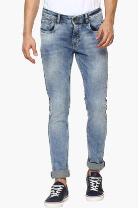 Mens Skinny Fit Stone Wash Jeans