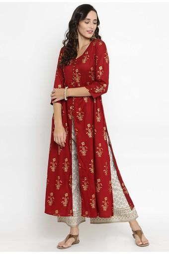 VARANGA -  Maroon Salwar & Churidar Suits - Main