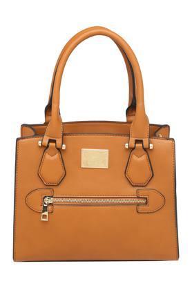 ALLEN SOLLYWomens Zipper Closure Satchel Handbag - 204527501_9124