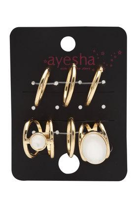 Womens Gold Plated Knuckle Rings and Rings Set of 6