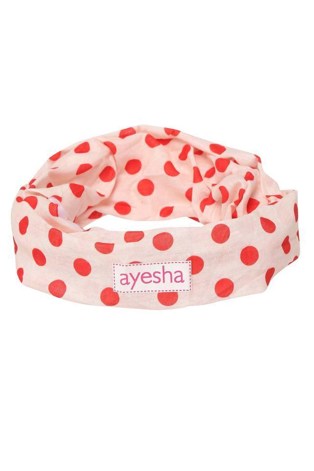 Womens Beige Polka dots Headwear