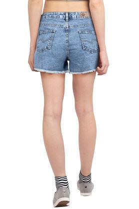Womens 5 Pocket Washed Shorts
