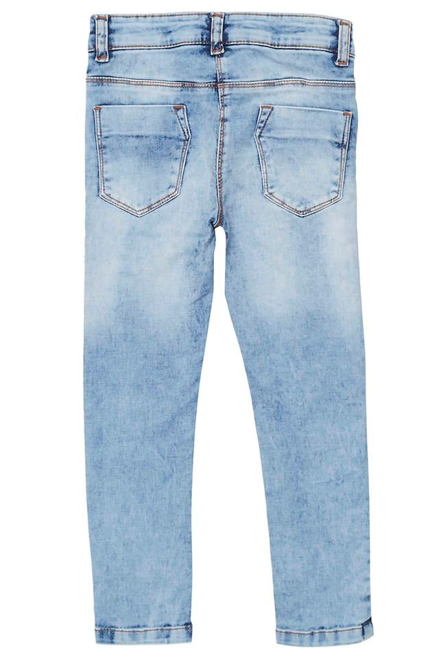 Girls 5 Pocket Distressed Jeans