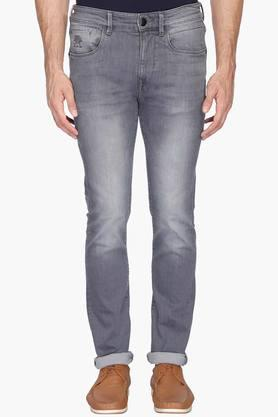 U.S. POLO ASSN. DENIM Mens 5 Pocket Skinny Fit Heavy Wash Jeans (Regallo Fit) - 202915490