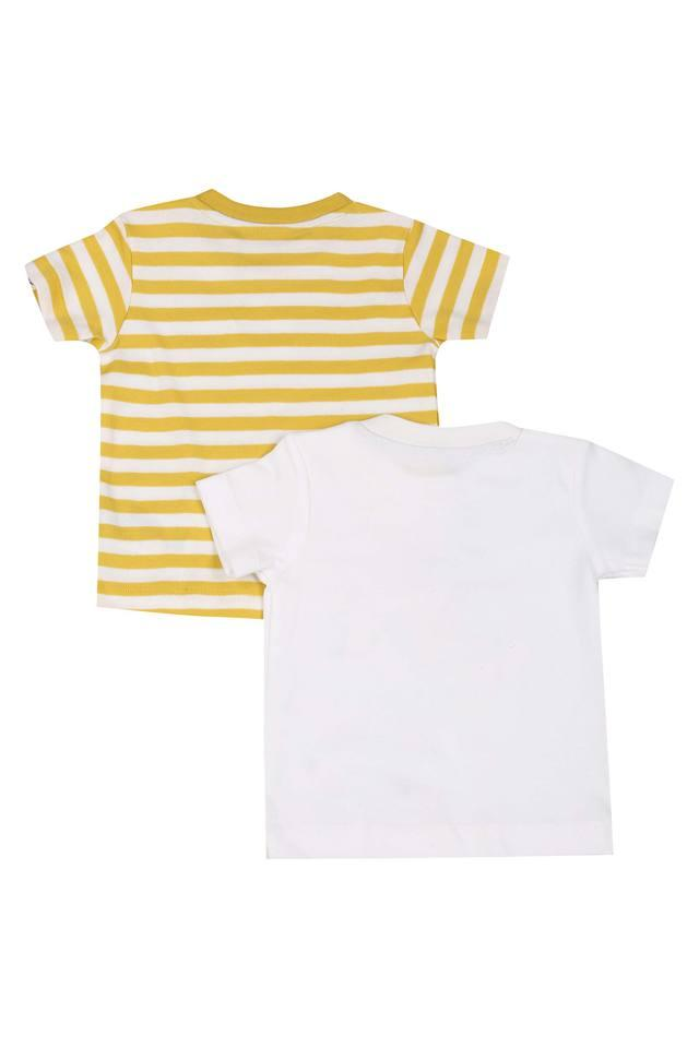 Girls Round Neck Printed Tee - Set of 2