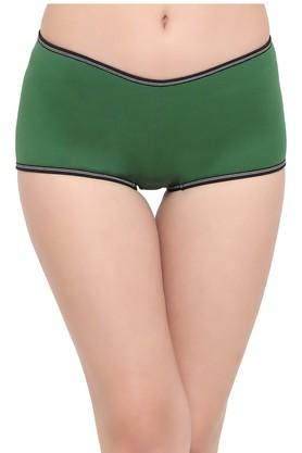 Womens Solid Boy Shorts