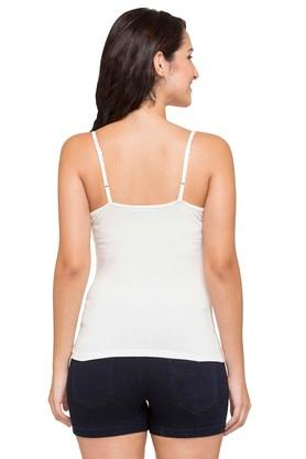 Womens Solid Woven Camisole