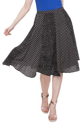 Womens Dot Pattern Skirt