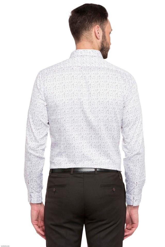 Mens Slim Collar Printed Shirt