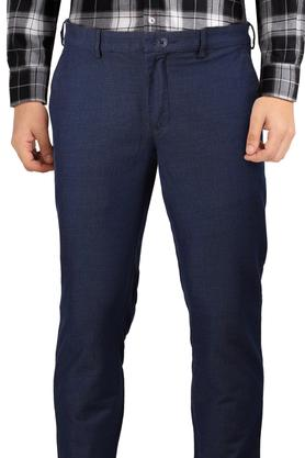 Mens 4 Pocket Slub Trousers
