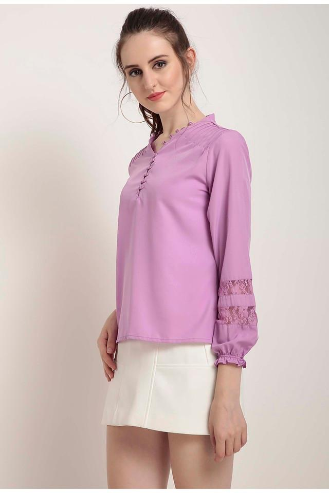 Womens V-Neck Solid Top