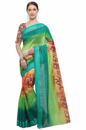 RACHNA Womens Art Silk Digital Printed Saree With Blouse - 204088357_7086