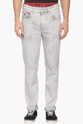 U.S. POLO ASSN. DENIMMens Slim Tapered Fit Stone Wash Jeans (Delta Fit)