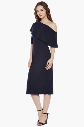 Womens One Shoulder Midi Dress