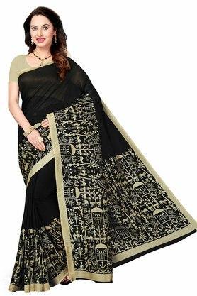ISHINWomens Printed Bhagalpuri Art Silk Saree