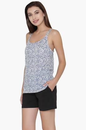 Womens Scoop Neck Printed Camisole