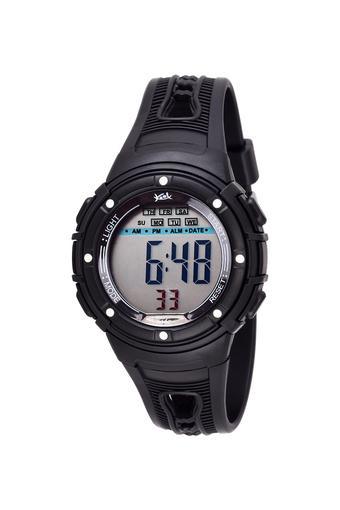 Unisex Plastic Grey Dial Digital Watch - KK210BK