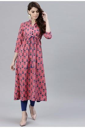 Women Cotton Printed Aline Kurta