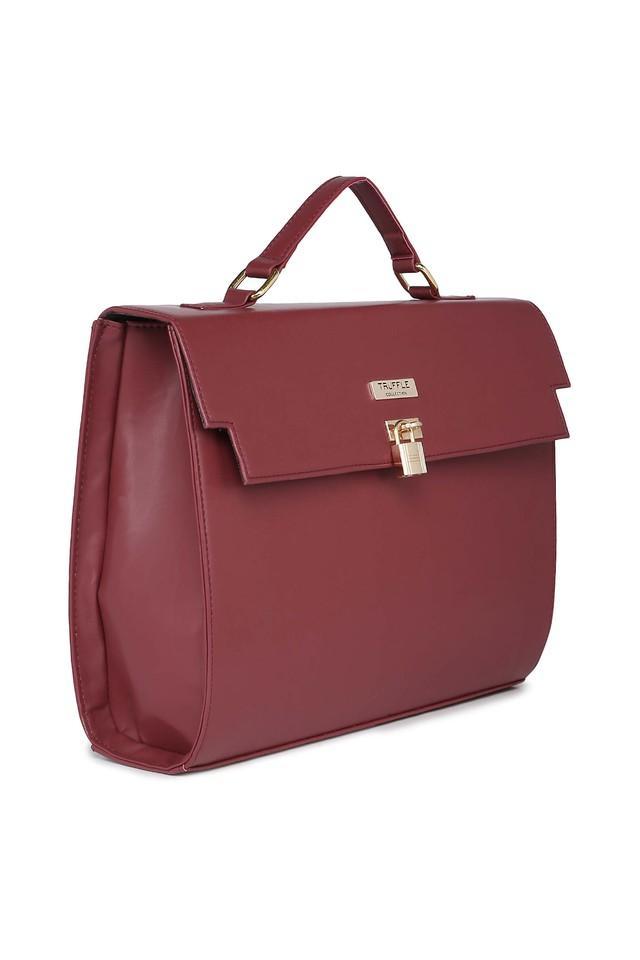 Womens Metallic Lock Closure Messenger Handbag