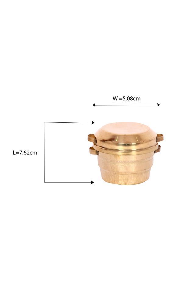 Brass Idli Making Vessels Pretend Play Set Pital Idli Patra