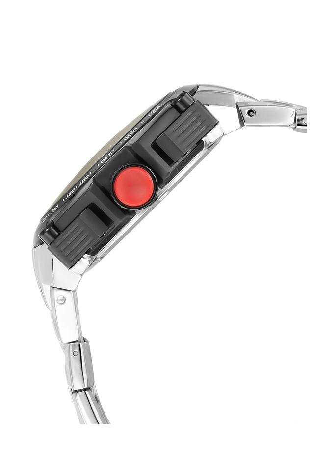 Mens Octane White Dial Chronograph Metallic Watch - 1765KM01