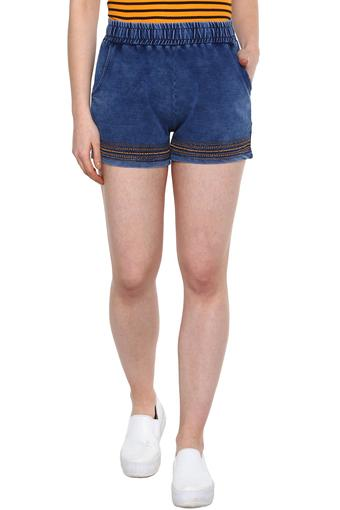 RS BY ROCKY STAR -  Denim Indigo Light Capris & Shorts - Main
