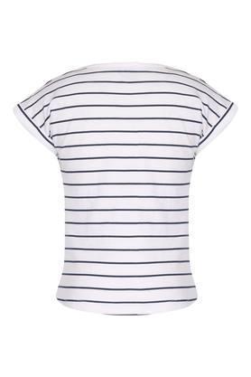 Girls Round Neck Stripe Top
