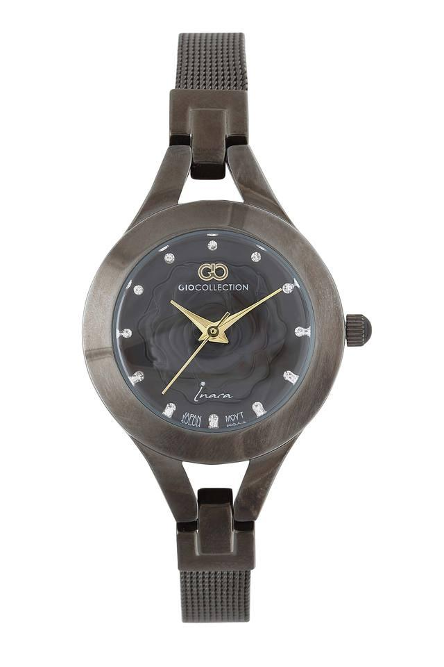 Womens Gio Collection Metallic Analogue Watch - G2117-11