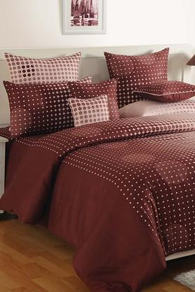 SWAYAMPrinted Double Fitted Bed Sheet With 2 Pillow Covers