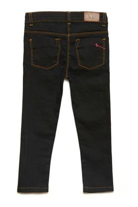 Girls 4 Pocket Coated Jeans