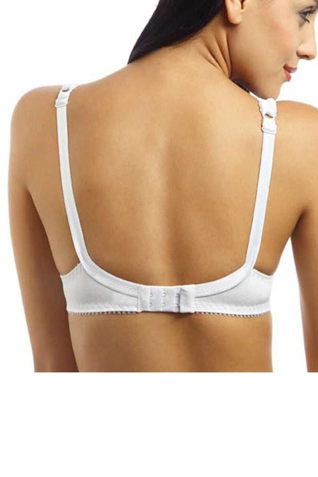 Womens Non Padded Underwired Lace Push Up Bra