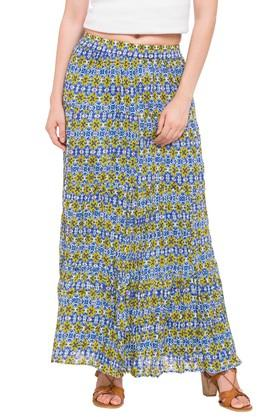 HAUTE CURRY Womens Printed Casual Skirt