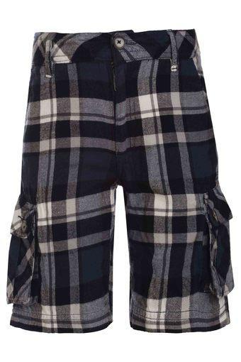 Boys 4 Pocket Checked Shorts
