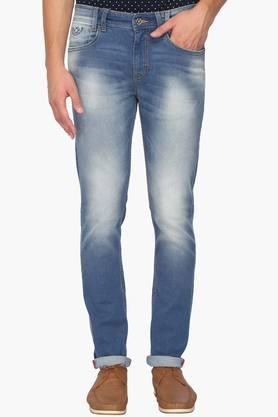 IZODMens Slim Fit Heavy Wash Jeans