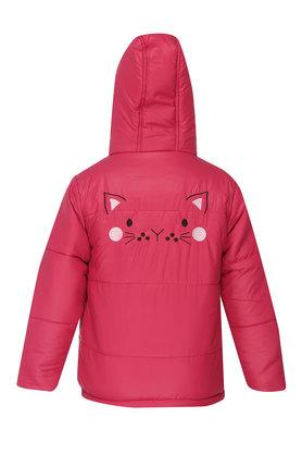 Girls Hooded Solid Quilted Jacket