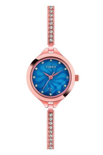 Womens Blue Dial Analogue Watch