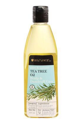 SOULFLOWER Tea Tree Hair Oil For Scalp And Dandruff Care - 225 Ml