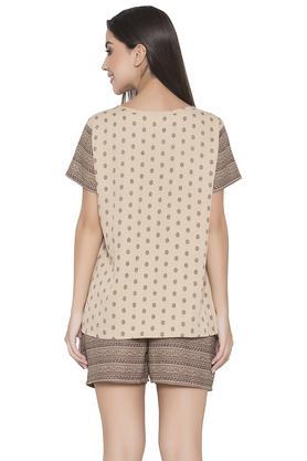 Womens Printed Top and Shorts Set