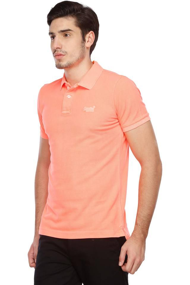 c795d42f Buy SUPERDRY Mens Solid Polo T-Shirt | Shoppers Stop