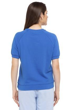 Womens Crew Neck Graphic Print T-Shirt