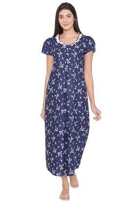 2719ce84108d3 X CLOVIA Womens Round Neck Printed Maternity Night Dress