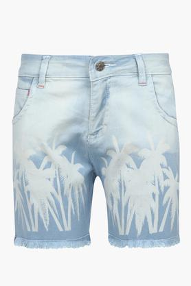 Girls 5 Pocket Printed Shorts