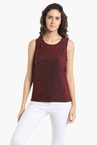 0a6c638a7072f1 Buy VERO MODA Womens Round Neck Shimmer Top