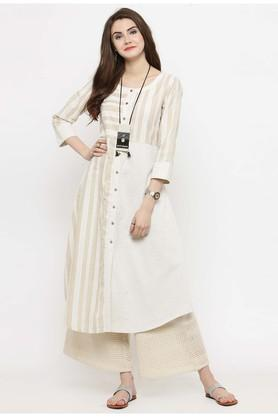 Women Geometric Print Kurta and Palazzo Set