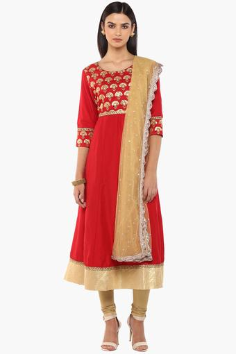 KASHISH -  Red Salwar & Churidar Suits - Main
