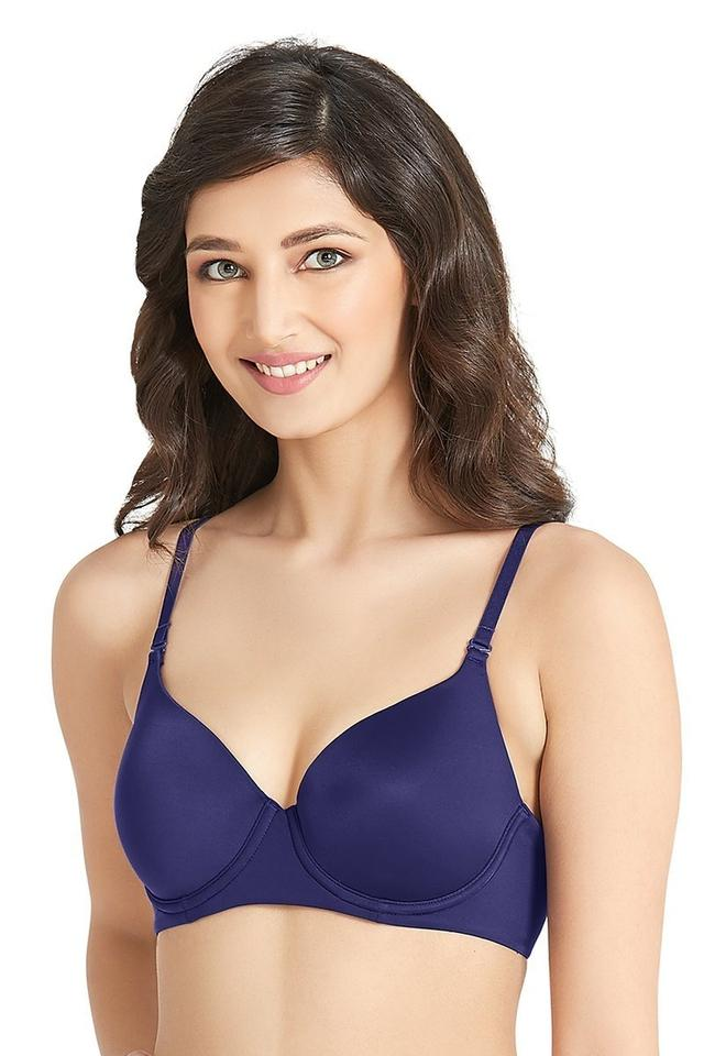 Womens Solid Medium Coverage Bra