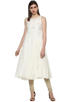 Size Medium Womens Face N Face Floral Skirt Green & White