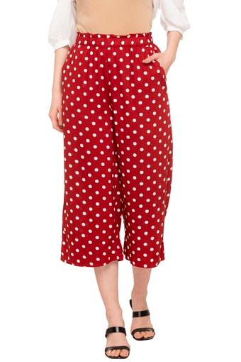 Womens 2 Pocket Dot Pattern Culottes